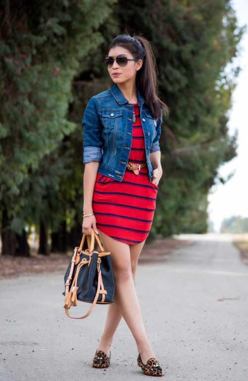 c чем носить джинсовую рубашку: сочетание с юбкой и с шортами
